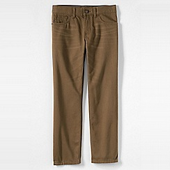 Lands' End - Brown boys' classic fit iron knee coloured jeans