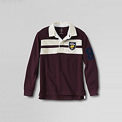 Lands' End - Purple boys' chest stripe rugby top