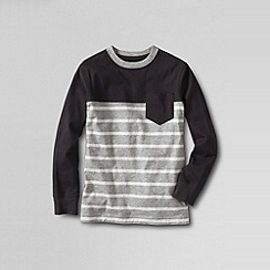 Lands' End - Grey little boys' pattern block super-t