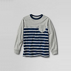 Lands' End - Grey boys' pattern block super-t