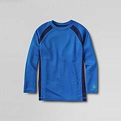 Lands' End - Blue little boys' active knit tee