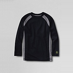 Lands' End - Black little boys' active knit tee