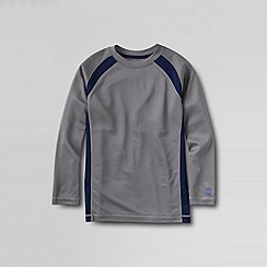 Lands' End - Grey little boys' active knit tee