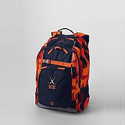 Lands' End - Orange boys' print large backpack