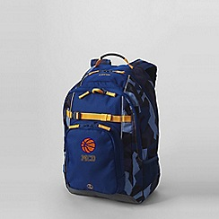 Lands' End - Blue boys' print large backpack