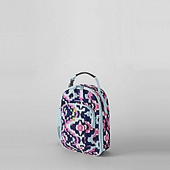 Lands' End - Blue girls' patterned soft sided lunch box