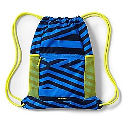 Lands' End - Boys' blue camo print drawstring gym bag