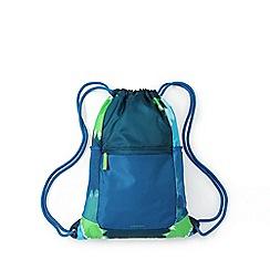Lands' End - Blue boys' camo print drawstring gym bag