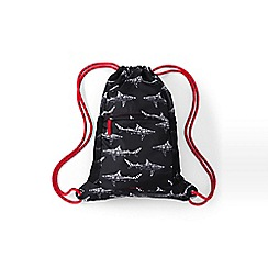 Lands' End - Black boys' camo print drawstring gym bag