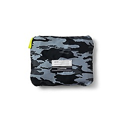 Lands' End - Boys' black camo print drawstring gym bag