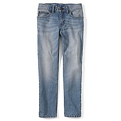 Lands' End - Boys Toddler Blue slim fit iron knee jeans