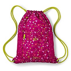 Lands' End - Pink girls' patterned drawstring gym bag