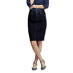 Lands' End - Blue women's regular classic 5-pocket denim skirt