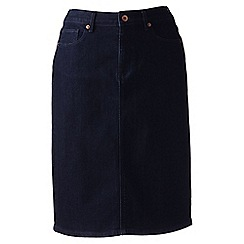 Lands' End - Blue 5-pocket petite denim skirt