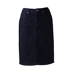 Lands' End - Blue plus 5-pocket denim skirt