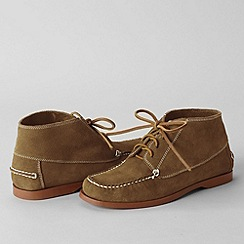 Lands' End - Brown men's hand-sewn chukka boots
