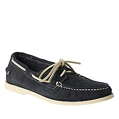 Lands' End - Grey men's hand-sewn boat shoes