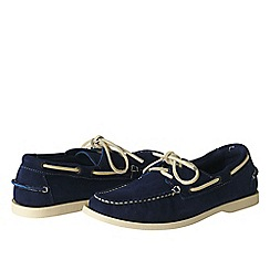 Lands' End - Blue men's hand-sewn boat shoes