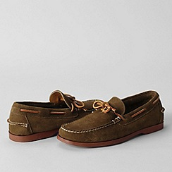 Lands' End - Brown men's hand-sewn one-eye moccasins