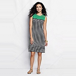 Lands' End - Green placed stripe shift dress