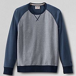 Lands' End - Blue men's french terry marled crew