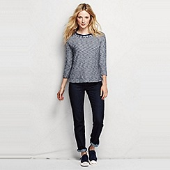 Lands' End - Blue women's embellished sweatshirt