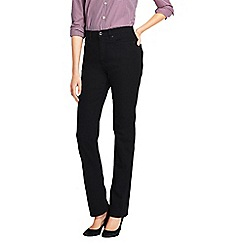 Lands' End - Black women's high rise straight leg black jeans