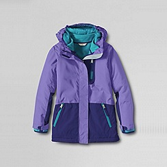Lands' End - Purple girls' stormer 3-in-1 system parka