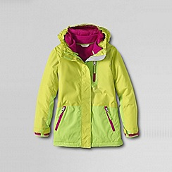 Lands' End - Yellow girls' stormer 3-in-1 system parka
