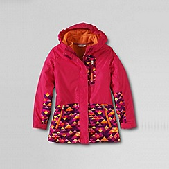 Lands' End - Pink girls' stormer 3-in-1 system parka