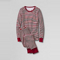 Lands' End - Red girls' snug-fit cotton pyjamas