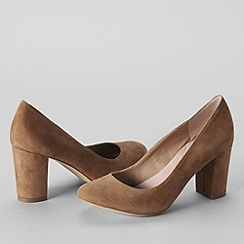 Lands' End - Brown women's minnie high heel shoes