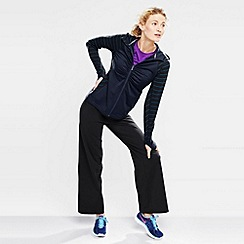Lands' End - Blue women's ruched zip-front workout jacket
