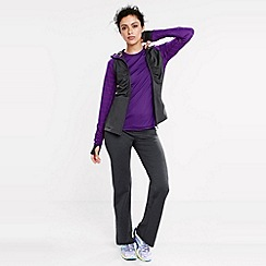 Lands' End - Grey women's ruched zip-front workout jacket
