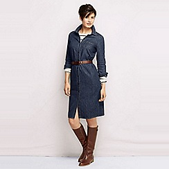 Lands' End - Blue women's regular denim shirtdress