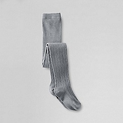 Lands' End - Grey girls' thermaskin heat thermal tights