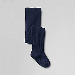 Lands' End - Blue girls' thermaskin heat thermal tights