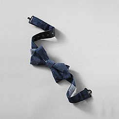 Lands' End - Blue boys' camo chambray bow tie