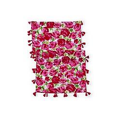 Lands' End - Plus size Pink girls' tassel scarf