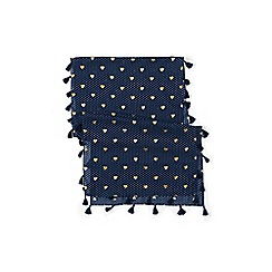 Lands' End - Blue girls' tassel scarf