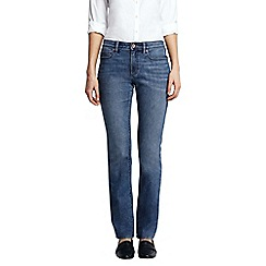 Lands' End - Blue dark indigo mid rise straight leg jeans