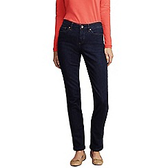 Lands' End - Blue women's dark indigo mid rise straight leg jeans