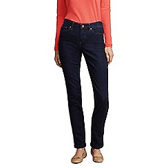 Lands' End - Blue petite dark indigo mid rise straight leg jeans