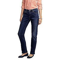 Lands' End - Blue petite medium wash mid rise straight leg jeans