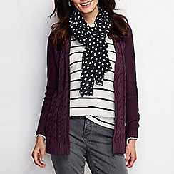 Lands' End - Red women's drifter cable drape cardigan