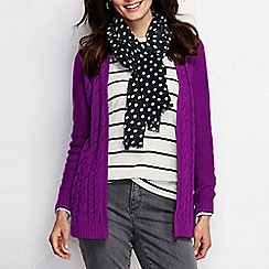 Lands' End - Purple women's drifter cable drape cardigan
