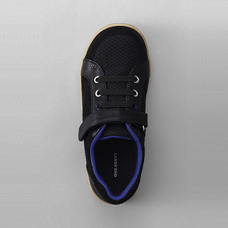 Lands+ End - Black boys+ landon sneakers