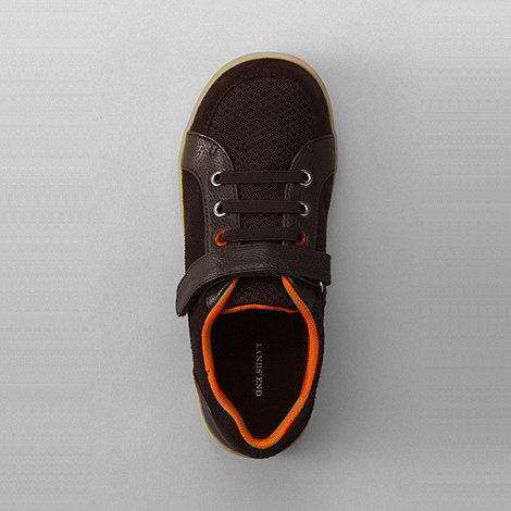 Lands+ End - Brown boys+ landon sneakers