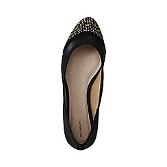 Lands' End - Black lola embellished ballet shoes