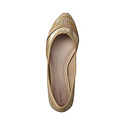 Lands' End - Gold lola embellished ballet shoes